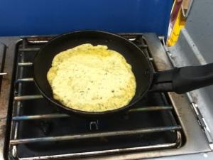 falafel pancake burger