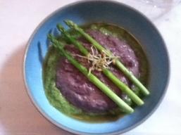 Two-tone Asparagus Soup