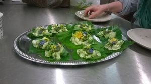 lime leaf & courgette canapes
