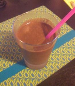Chocolate smoothie shake